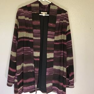 Christopher and Banks 2X Purple Cardigan